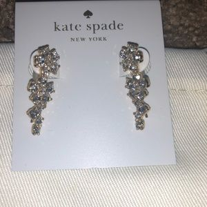 Kate Spade Earrings, Clear/Gold
